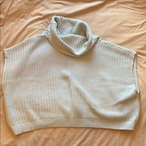 Free People cropped turtleneck sweater.